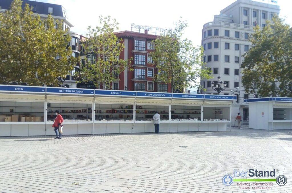 Pabellones feria del libro Bilbao