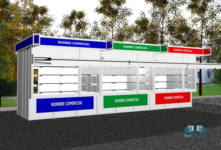 Casetas modulares de exterior
