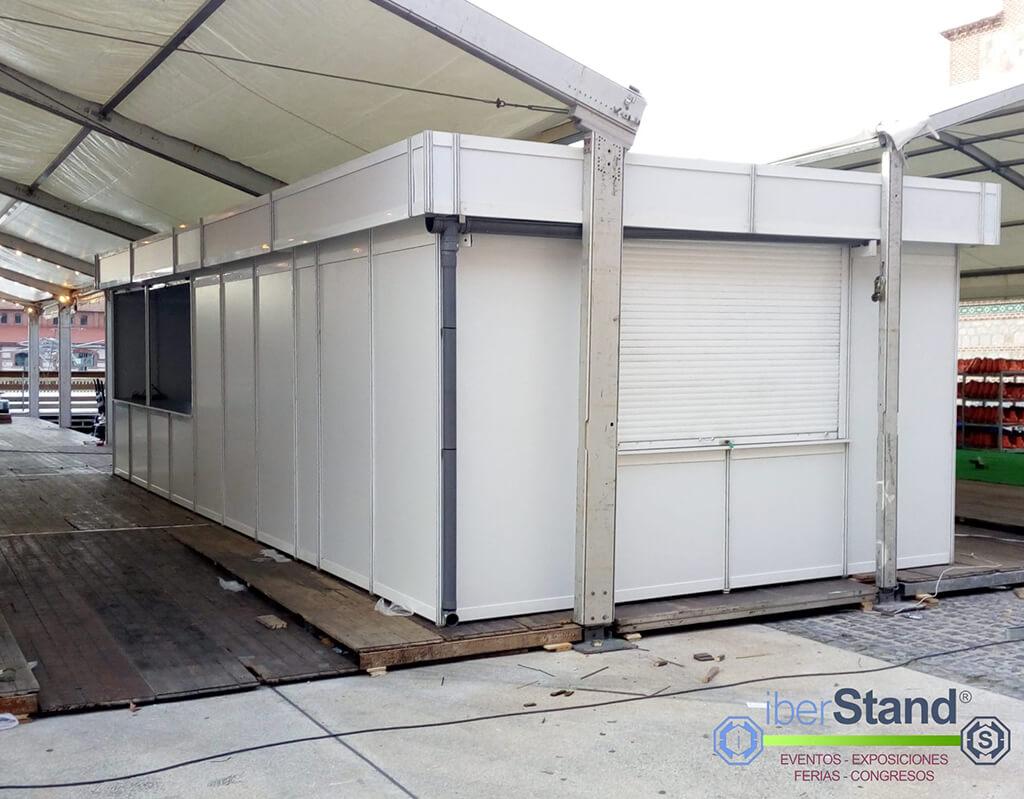 Caseta modular matadero de Madrid