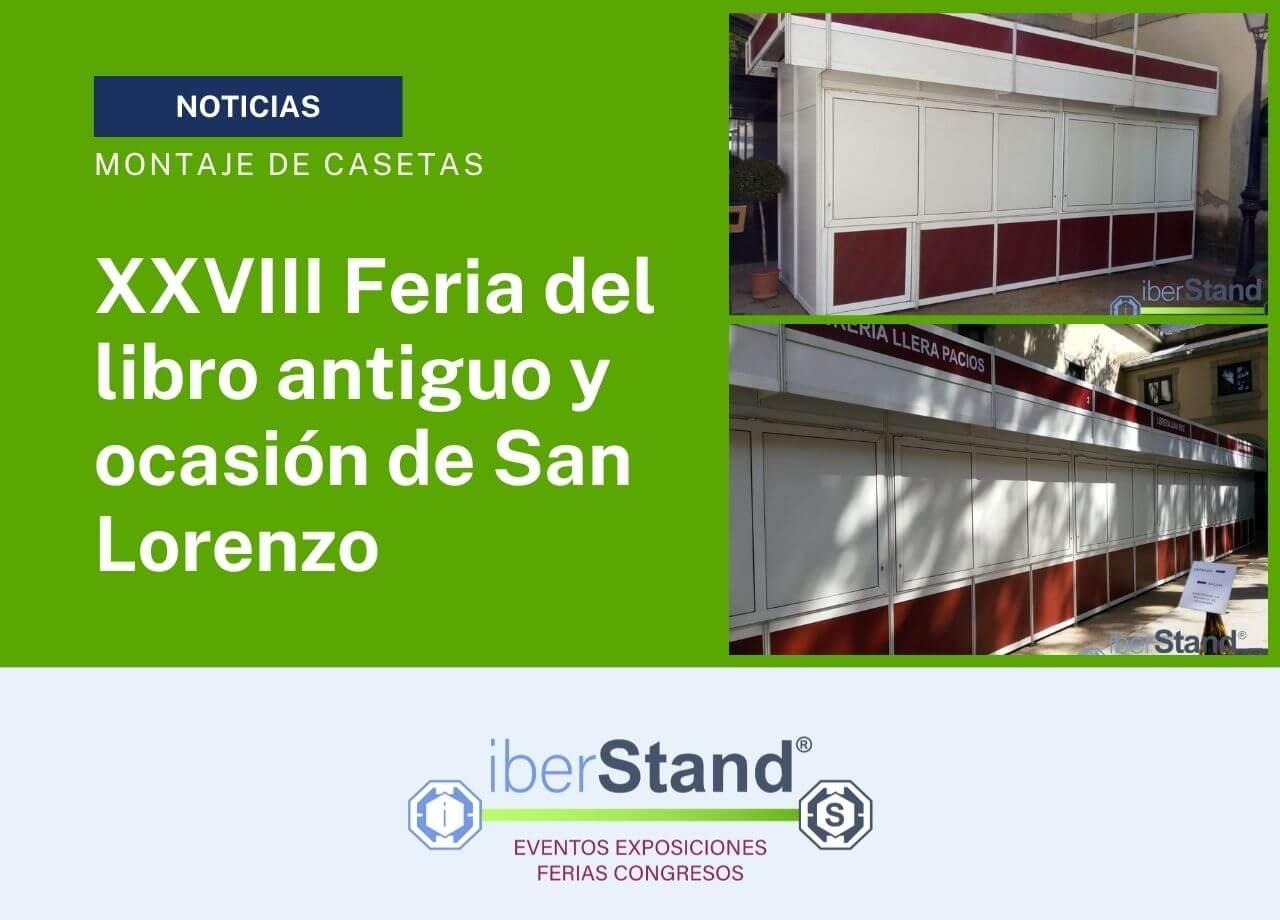Feria del libro de San Lorenzo con casetas iberstand